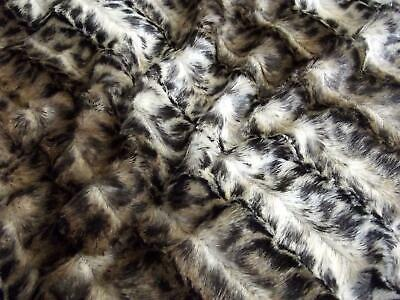 Super Luxury Faux Fur Fabric Material - MICRO BROWN BABY LEOPARD