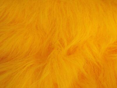 LONG Pile Fun Faux Fur Fabric Material - GOLD
