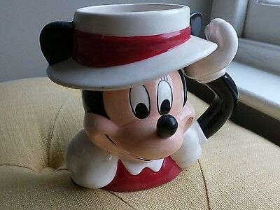 Vintage Disney Minnie Mouse Mug - Boater / Hat - Wedding / Anniversary NORWICH