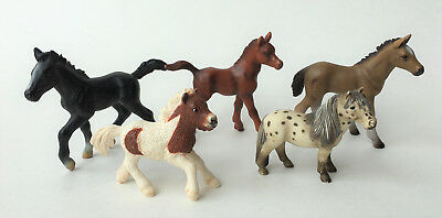 Schleich Lot Of (5) Foals Pony Horse Falabella Shetland Hannoverian Lippizzaner