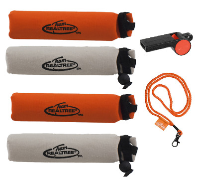 6-Pc Team Realtree Canvas Dog Training Throwing Dummies Hunting Whistle+Lanyard