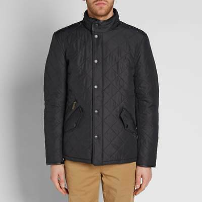 Barbour Men's Powell Quilted Jacket - Black MQU0281BK11 Size XL