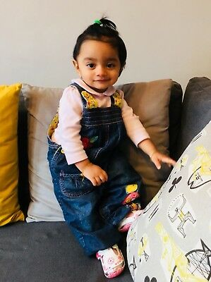 Baby dungarees girl 12-18 Months Marks and Spencer good used condition cute