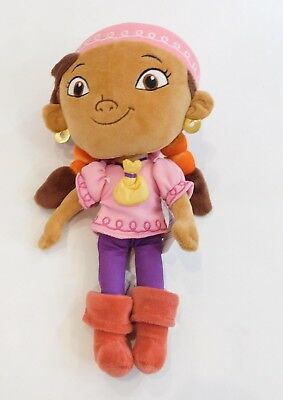 Disney Store Jake and the Neverland Pirates  Girls' Izzy Doll Plush Toy 11""