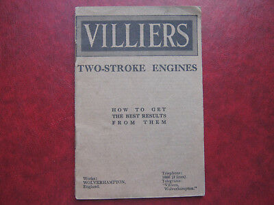 Villiers Two-Stroke Engines. Old manual.