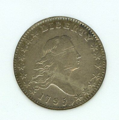 1795 FLOWING HAIR SILVER 50 CENTS  EXTREMELY FINE O#113a