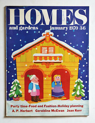 Vintage HOMES and GARDENS Magazine: January 1970, See Pictures for Content.