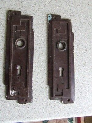 2 Art Deco Bakelite Door Handle Back Plates