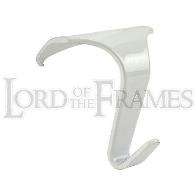 38 x 34mm White Picture Rail Hooks Hanging Mirror Painting Steel Strong Reliable