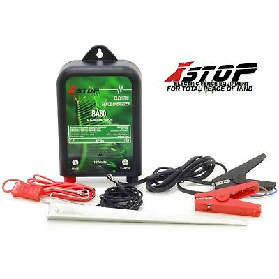 12v Battery Powered Electric Fence Fencing Energiser Unit + Earth 0.6J CE RoHS