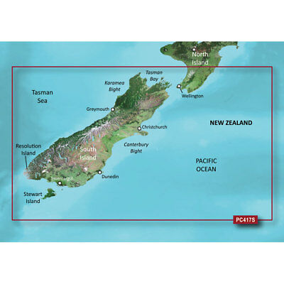 Garmin BlueChart g2 Vision HD - VPC417S - New Zealand South - microSD&