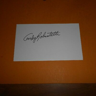 Andy Robustelli was an American NFL football defensive end Hand Signed Card