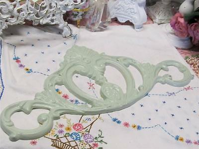 SAGE GREEN CAST IRON PEDIMENT~SCROLLED DESIGN~Shabby~Cottage~Chic