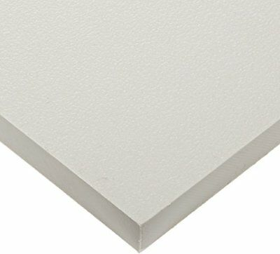 "White Marine Board HDPE Polyethylene Plastic Sheet 1/2"" - 0.500"" Thick Textured"