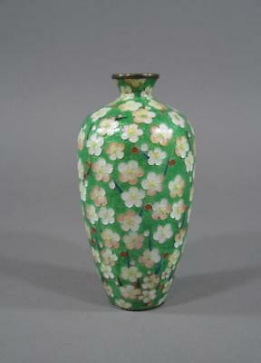 Nice Antique Japanese Cloisonne Vase, Ginbari, Nice Decoration & Color