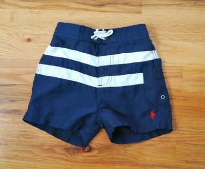 Polo by Ralph Lauren Toddler Swim Trunk Shorts Swimsuit Size 18 Months Navy Blue