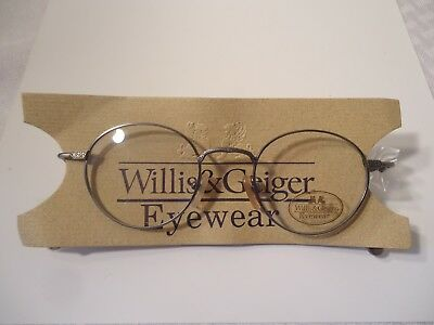 Willis & Geiger Antique Pewter 45 Pinnacle Vintage Eyeglass Frame Japan NOS Lot1
