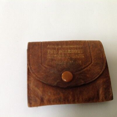 Old Leather Change Purse Dearborn National Bank