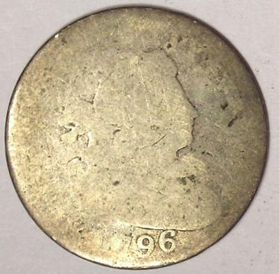 1796 Draped Bust Dime 10C - Rare Key Date Coin - First Year of Mintage!