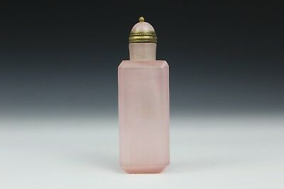 Pink Glass Snuff Bottle with chatoyancy