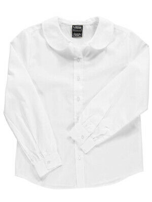 French Toast Big Girls' Plus L/S Peter Pan Blouse (Sizes 12.5 - 46.5)
