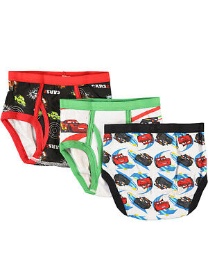 "Disney Cars Little Boys' ""Flipside"" 3-Pack Briefs (Sizes 4 - 7)"