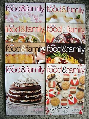 Lot of 8 Kraft FOOD & FAMILY Magazines Recipes COMPLETE 2015 & 2016