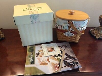 Longaberger 2001 Mother's Day Vintage blossoms basket combo WITH BOX!