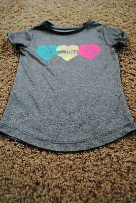 CARTERS ~ Toddler Girl ~ Athletic T Shirt ~ Size 4 4T ~ Love Play