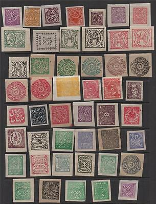 INDIA STATES FAKE/COUNTERFEIT STAMPS - CHARKHARI SIRNDORCOCHIN ETC (b)
