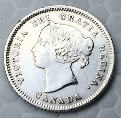 1883 H Canada 5 Cents Coin Beautiful Coin Wow Must Get