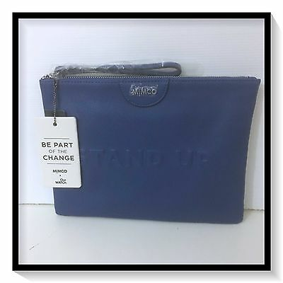 Mimco OUTWATCH STANDUP Pouch Clutch Wallet BNWT NAVY