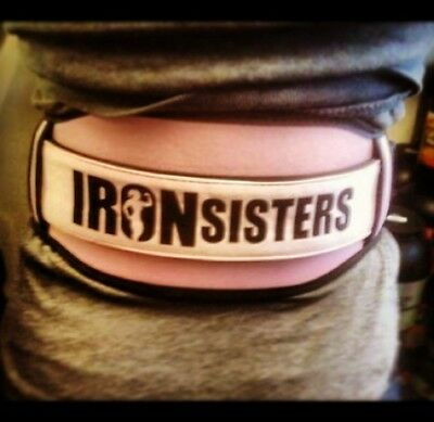Muscletricks comfy pink iron sisters weights lifting gym ladies size small