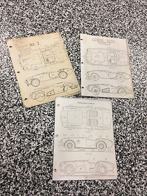 Original RARE Shelby American AC Cobra 289 and 427 Body Panel ID Sheets! Rare!!!