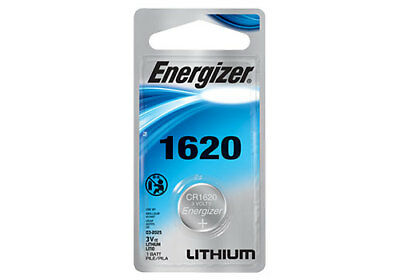 Energizer CR1620 3V Lithium Battery Retail Packaging 1-Count