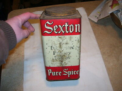 Vintage Kitchen Sexton Dehydrated Parsley Spice Large Tin