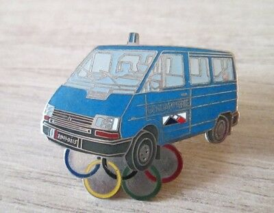 Pins Badge Collection Jo Albertville 92 - Renault Trafic Gendarmerie