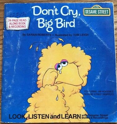 1983 Sesame Street, Don't Cry, Big Bird with Record