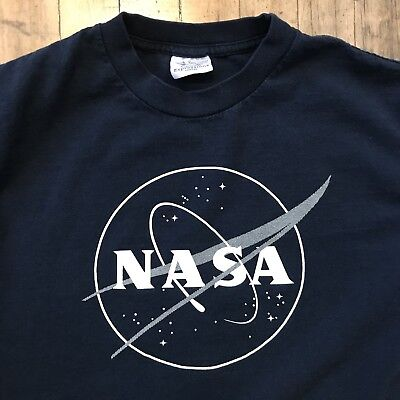 Vtg NASA T-Shirt 1980s 1990s - Size Medium, Made in USA