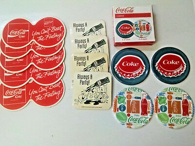 Coca Cola COASTERS-4 New In Box-4 Always a Party & 5 Double cardboard