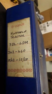 Nuffield Tractor Service Parts List  Manual.