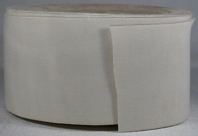 """1260g roll of 3.5"""" white woven elastic (dirty old stock)"""