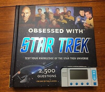 Obsessed With Star Trek, 2500 Questions Quiz Book Test Your Knowledge Trekkies