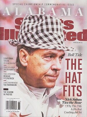 Special Championship Commemorative Issue Alabama Sports Illustrated Nick Saban