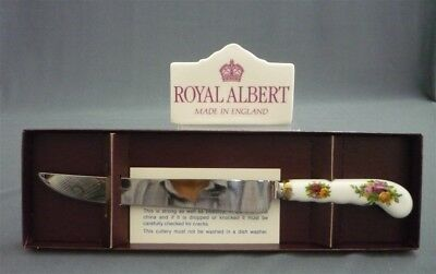 ROYAL ALBERT Old Country Roses Silver Plated Cake Knife Boxed Made in England