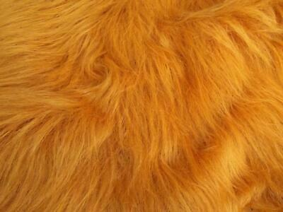 LONG Pile Fun Faux Fur Fabric Material - HONEY BROWN