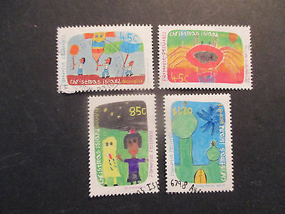 No-6---1999  CHRISTMAS   ISLAND   FAVORITE  FESTIVALS -4  STAMPS --F/S - USED