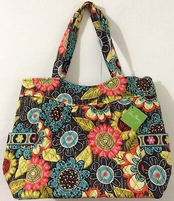 New brand VERA BRADLEY Pleated Tote Flower Shower color