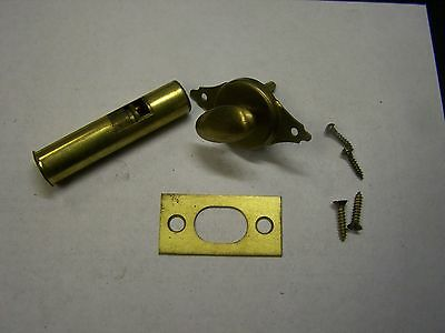 NOS Vintage FROST Brass Privacy Mortise Bolt & Ctach Bath-Cupboard-Pantry Door