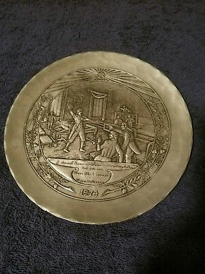 Wendell august pewter plate 9 inches Patrick Henry's famous speech